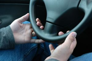 Hands on steering wheel Charlotte DWI Attorney North Carolina DUI Lawyer