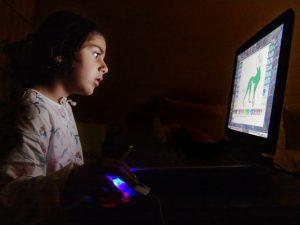 Child on computer Charlotte Criminal Defense Lawyer Mecklenburg harassment Attorney